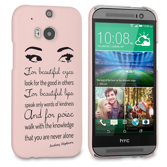 Caseflex HTC One M8 Audrey Hepburn 'Eyes' Quote Case