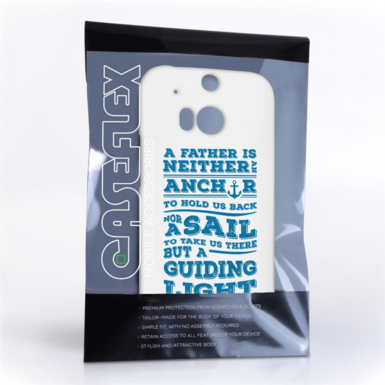 Caseflex Father Sail Quote HTC One M8 Case