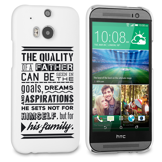 Caseflex Father Family Quote HTC One M8 Case