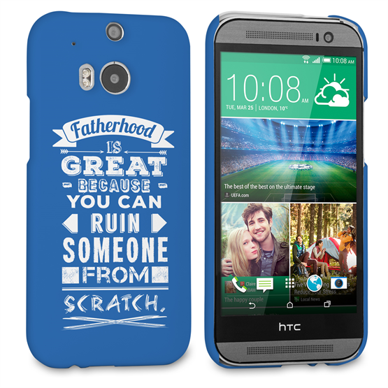 Caseflex Fatherhood Funny Quote HTC One M8 Case – Blue