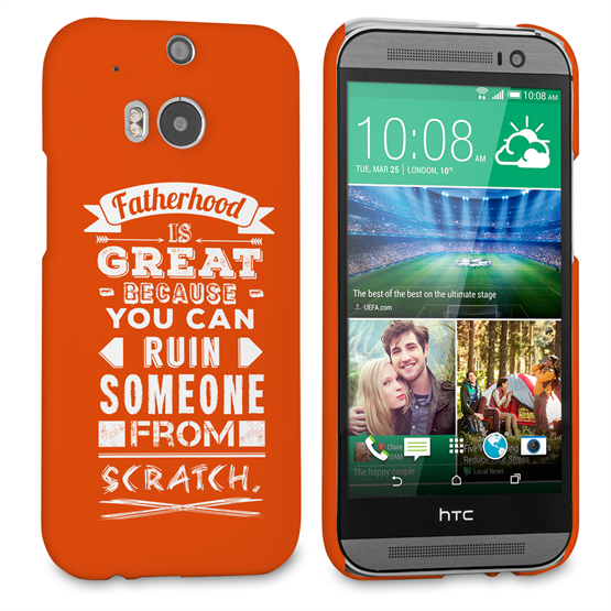 Caseflex Fatherhood Funny Quote HTC One M8 Case – Red