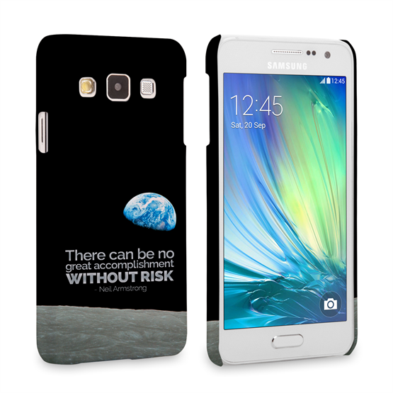 Caseflex Samsung Galaxy A3 Neil Armstrong Quote Case