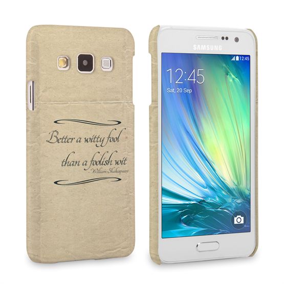 Caseflex Samsung Galaxy A3 Shakespeare Quote Case