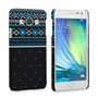 Caseflex Samsung Galaxy A3 Fairisle Case – Grey and Blue Half Pattern