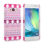 Caseflex Samsung Galaxy A3 Fairisle Case – Pink Skull White Background