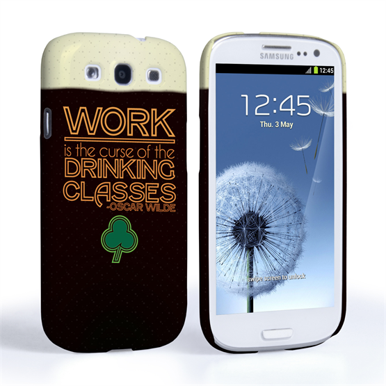Caseflex Samsung Galaxy S3 Wilde Drinking Classes Quote Case Black