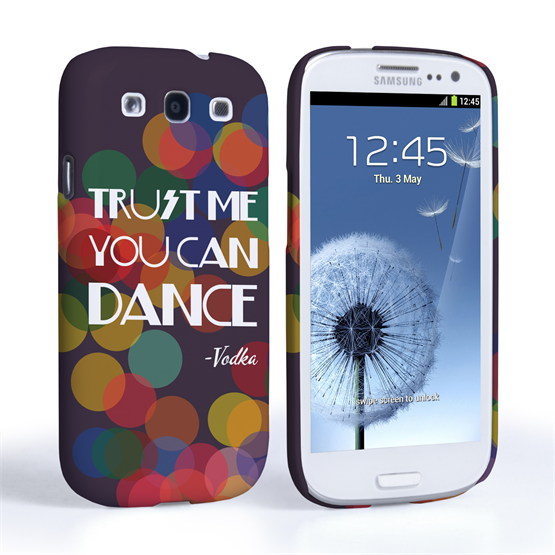 Caseflex Samsung Galaxy S3 Vodka Dance Quote Hard Case – Purple