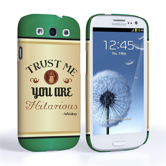 Caseflex Samsung Galaxy S3 Irish Whiskey Quote Hard Case – Green