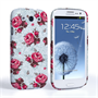 Caseflex Samsung Galaxy S3 Vintage Roses Wallpaper Hard Case – Light Blue