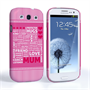 Caseflex Samsung Galaxy S3 Mum Word Collage Hard Case – Pink