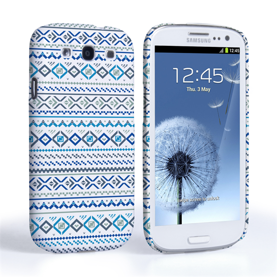 Caseflex Samsung Galaxy S3 Fairisle Case – Blue with White Background