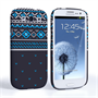Caseflex Samsung Galaxy S3 Fairisle Case – Grey and Blue Half Pattern