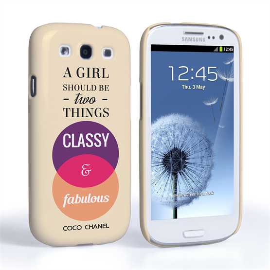 Caseflex Samsung Galaxy S3 Chanel 'Classy and Fabulous' Quote Case