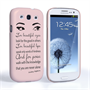 Caseflex Samsung Galaxy S3 Audrey Hepburn 'Eyes' Quote Case