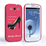 Caseflex Samsung Galaxy S3 Marilyn Monroe 'Shoe' Quote Case