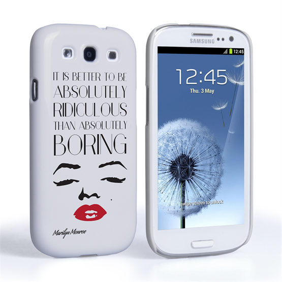 Caseflex Samsung Galaxy S3 Marilyn Monroe Face Quote Case