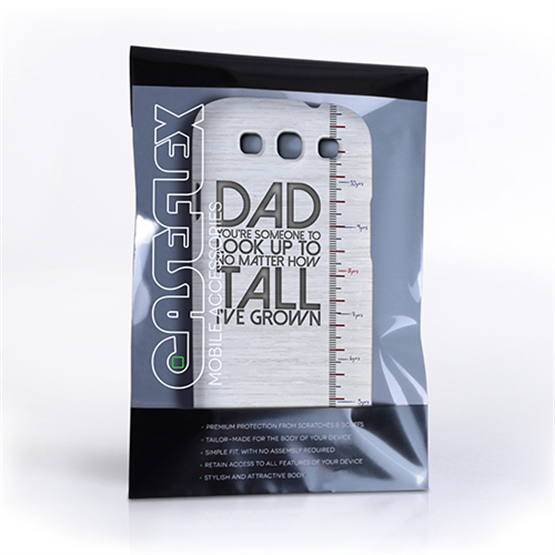 Caseflex Samsung Galaxy S3 Dad Growing Up Quote Case/Cover