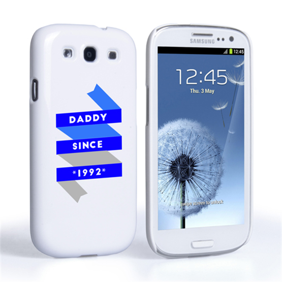 Caseflex Daddy Custom Year Samsung Galaxy S3 Case - White