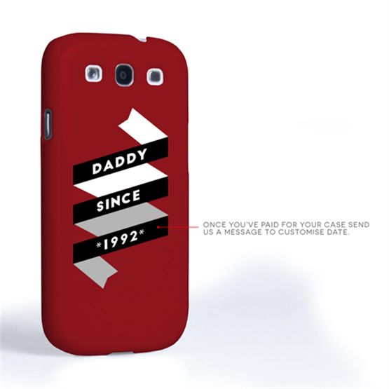 Caseflex Daddy Custom Year Samsung Galaxy S3 Case - Red