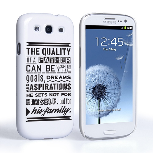 Samsung Quote Prepossessing Caseflex Father Family Quote Samsung Galaxy S3 Case