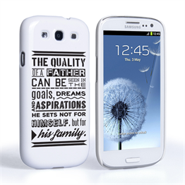 Caseflex Father Family Quote Samsung Galaxy S3 Case