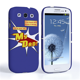 Caseflex My Dad Hero Cartoon Samsung Galaxy S3 Case – Blue