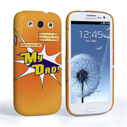 Caseflex My Dad Hero Cartoon Samsung Galaxy S3 Case – Orange