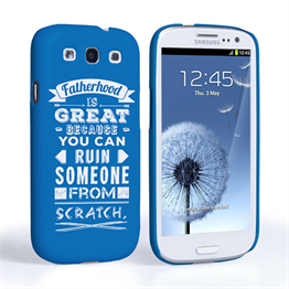 Caseflex Fatherhood Funny Quote Samsung Galaxy S3 Case – Blue