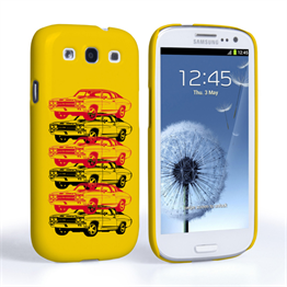 Caseflex Chevrolet Chevelle Classic Car Samsung Galaxy S3 Case- Yellow