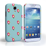 Caseflex Samsung Galaxy S4 Green/ Pink Dainty Dots And Flowers Hard Case