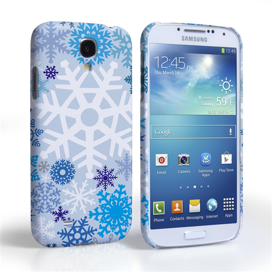 Caseflex  Samsung Galaxy S4 Winter Christmas Snowflake Cover - Blue