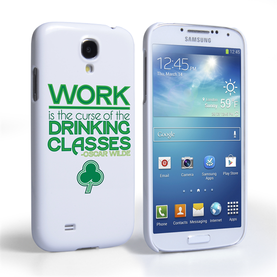 Caseflex Samsung Galaxy S4 Wilde Drinking Classes Quote Hard Case – White and Green