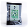 Caseflex Samsung Galaxy S4 Wilde Stars Quote Hard Case – White and Green
