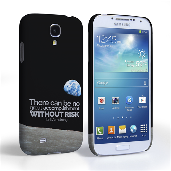 Caseflex Samsung Galaxy S4 Neil Armstrong Quote Case