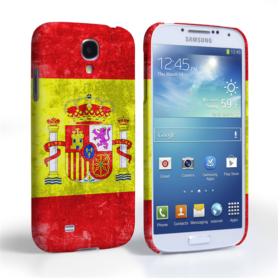 Caseflex Samsung Galaxy S4 Retro Spain Flag Case