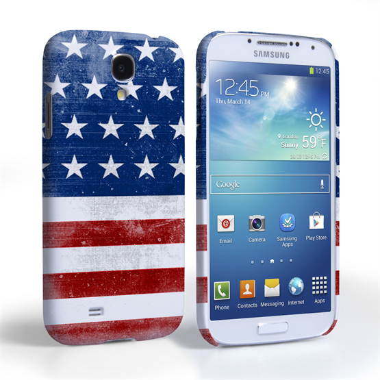 Caseflex Samsung Galaxy S4 Retro USA Flag Case