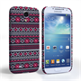 Caseflex Samsung Galaxy S4 Fairisle Case – Grey with Red Background