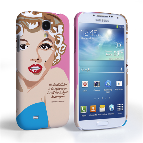 Caseflex Samsung Galaxy S4 Marilyn Monroe 'Fear is Stupid' Quote Case