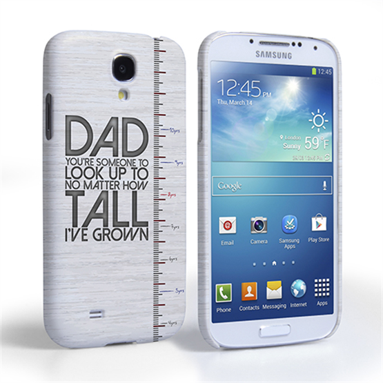 Caseflex Samsung Galaxy S4 Dad Growing Up Quote Case/Cover
