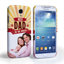 Caseflex Samsung Galaxy S4 Best Dad in the World (Red) Case/Cover