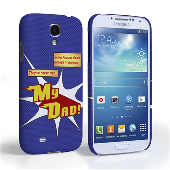 Caseflex My Dad Hero Cartoon Samsung Galaxy S4 Case – Blue