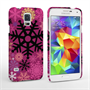 Caseflex Samsung Galaxy S5 Christmas Winter Snowflake Hard Case Burgundy