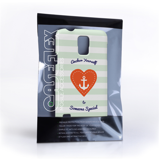 Caseflex Samsung Galaxy S5 Anchor Love Heart Case