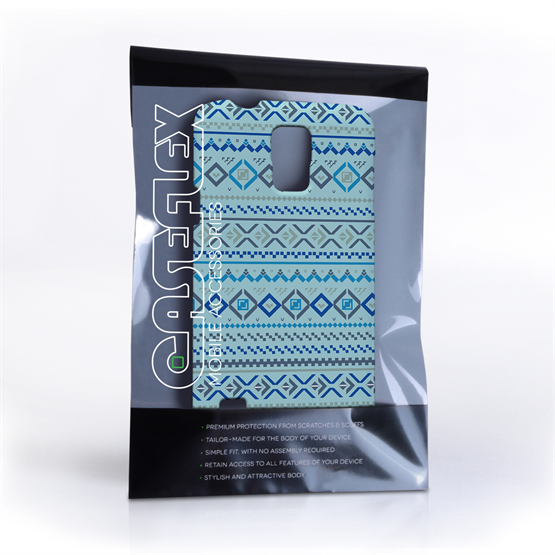 Caseflex Samsung Galaxy S5 Fairisle Case – Blue with Blue Background