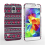 Caseflex Samsung Galaxy S5 Fairisle Case – Grey with Red Background