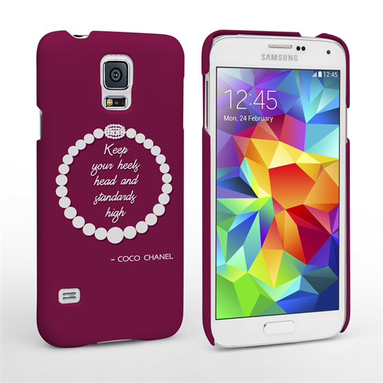 Caseflex Samsung Galaxy S5 Chanel Diamond And Pearls Quote Case
