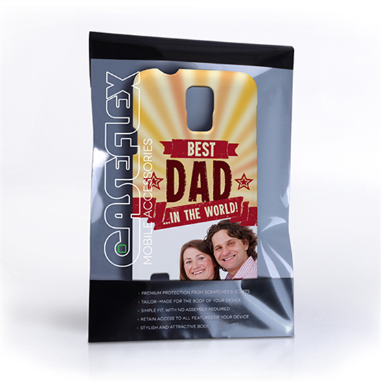 Caseflex Samsung Galaxy S5 Best Dad in the World (Red) Case/Cover