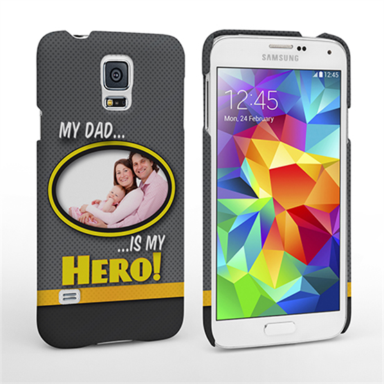 My Dad, My Hero Customised Photo Samsung Galaxy S5 Case - Grey