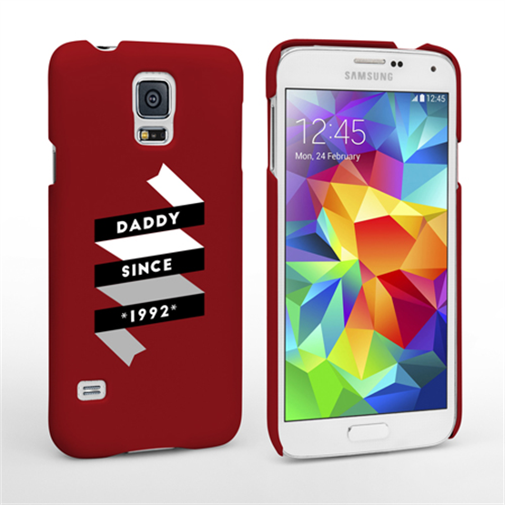 caseflex daddy custom year samsung galaxy s5 case red