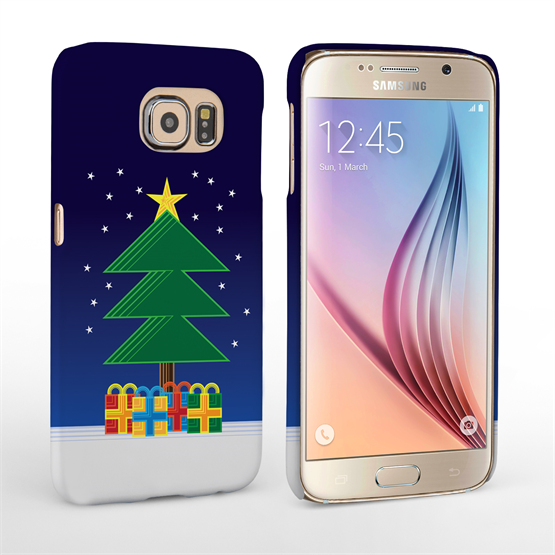 Caseflex Samsung Galaxy S6 Christmas Night Tree & Presents Hard Case